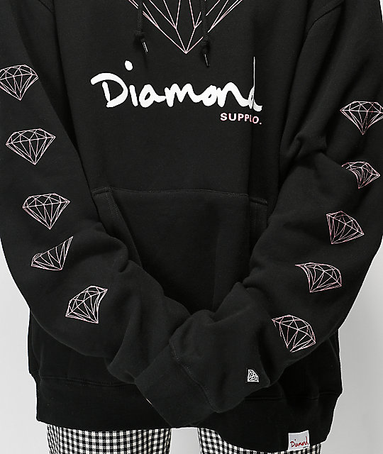 Diamond Supply Co. OG Sign sudadera con capucha negra