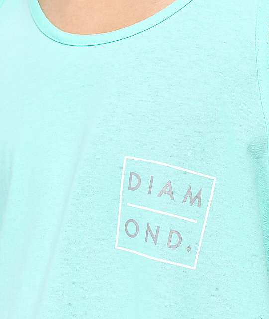 Diamond Supply Co. Outline 2 Tone camiseta azul sin mangas