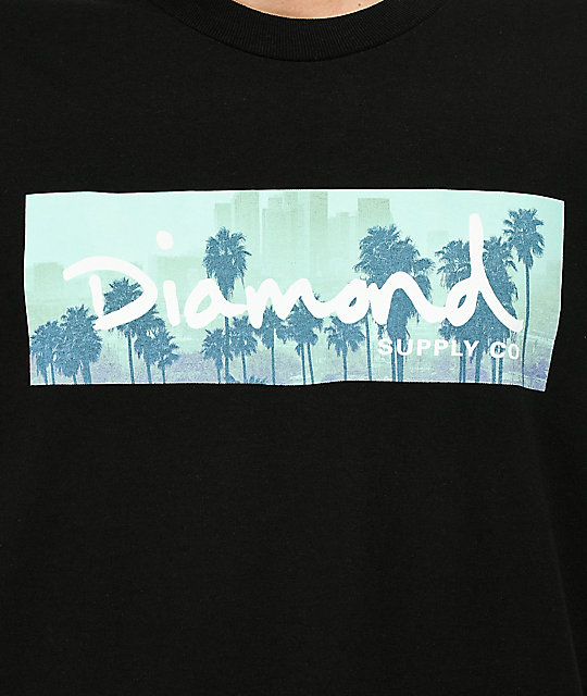 Diamond Supply Co. Palms Box Logo Black T-Shirt