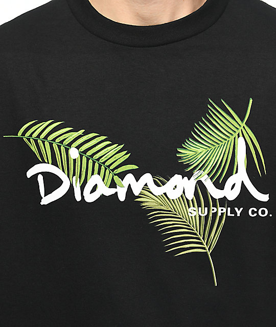 New Men/'s Diamond Supply Co Paradise Logo Script Fashion Crew Neck T-shirts