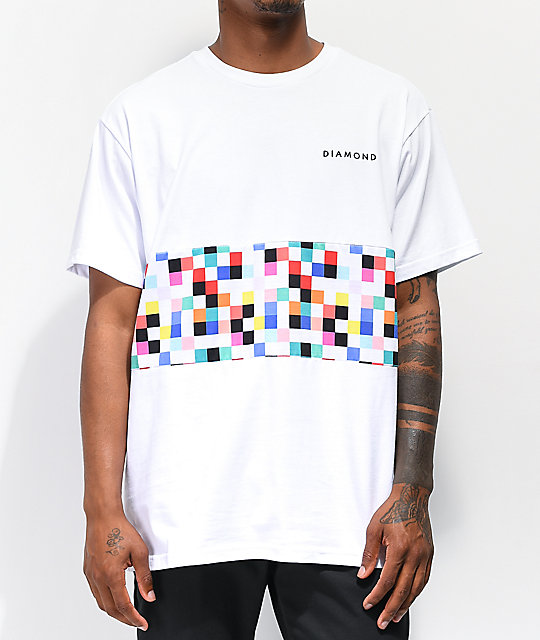 Diamond Supply Co. Pixel Panel camiseta blanca