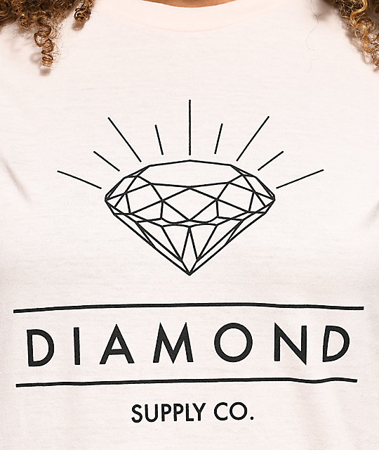 Diamond Supply Co. Radiance Light Pink T-Shirt