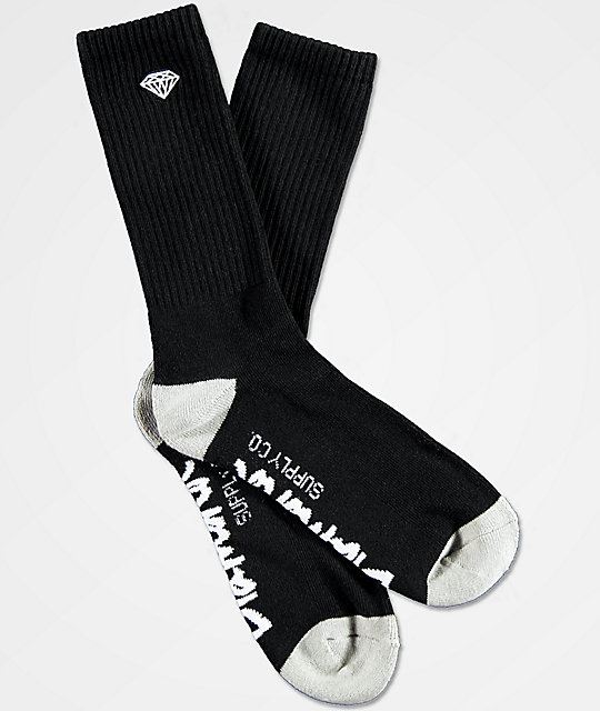 Diamond Supply Co. Rock Logo & Script calcetines negros