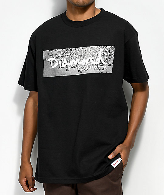 ccc16b41b116 Diamond Supply Co. Scattered Box Logo Black T-Shirt | Zumiez