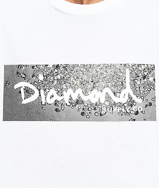 Diamond Supply Co. Scattered Box Logo White T-Shirt