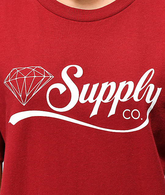 Diamond Supply Co. Script Burgundy T-Shirt