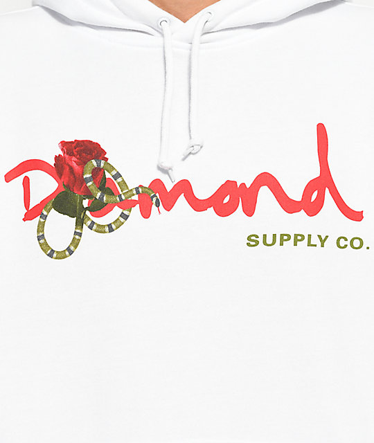 Diamond Supply Co. Snake OG White Hoodie