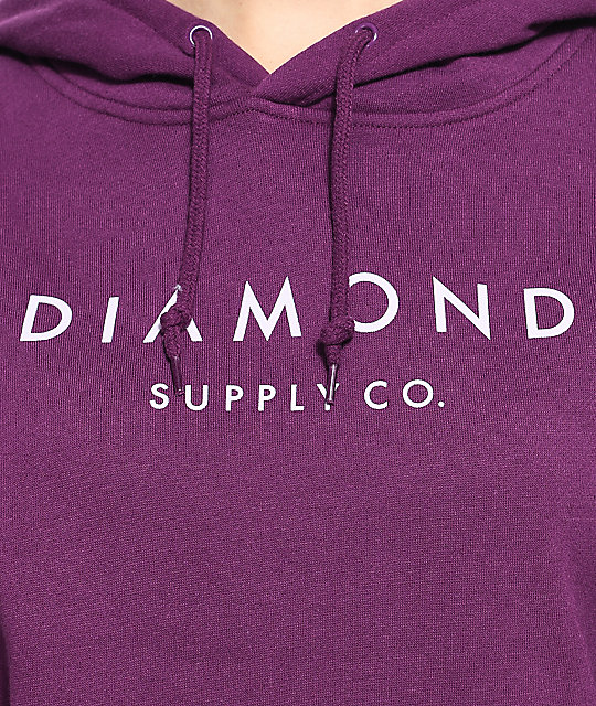 Diamond Supply Co. Stone Cut Dark Purple Hoodie