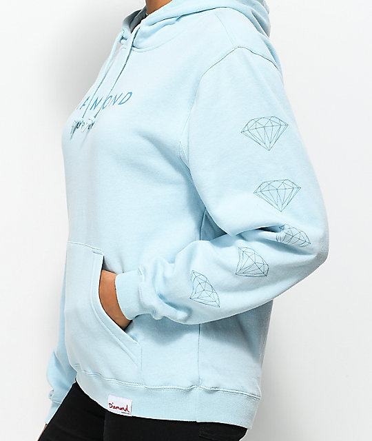 Diamond Supply Co. Stone Cut Light Blue Hoodie