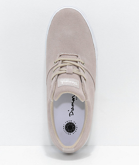 Diamond Supply Co. Torey Tan Suede Skate Shoes