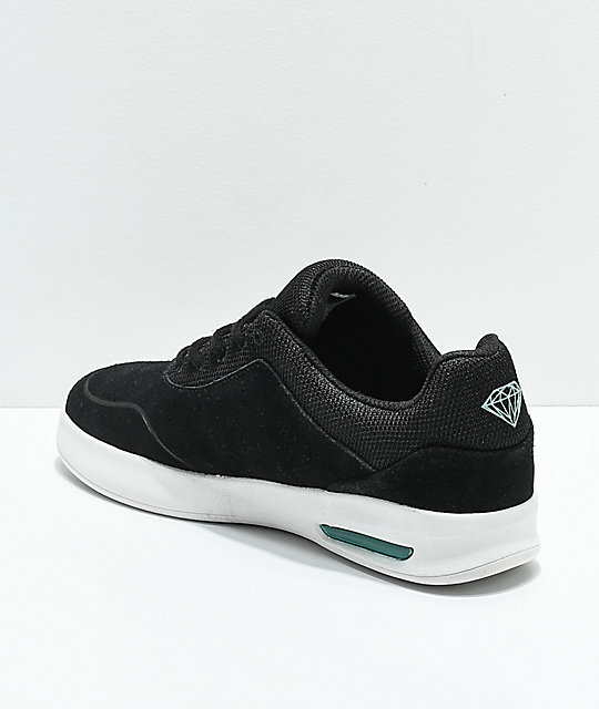 Diamond Supply Co. Tucker Pro zapatos de skate de ante en negro y blanco