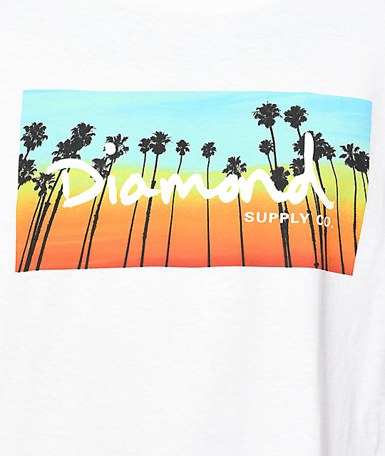 Diamond Supply Co. Twilight camiseta blanca