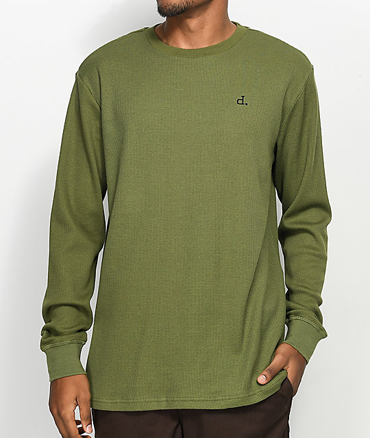 e944bff8 Diamond Supply Co. Un-Polo Olive Crew Neck Long Sleeve Thermal Shirt ...