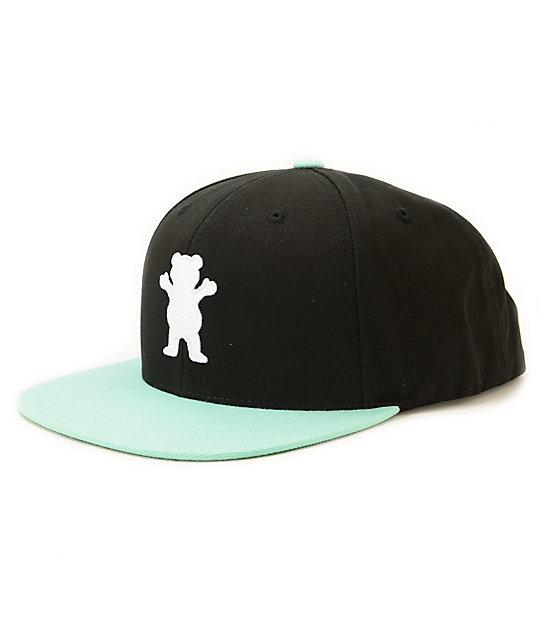 Diamond Supply Co. X Grizzly OG Logo Black Snapback Hat  48886090dd4