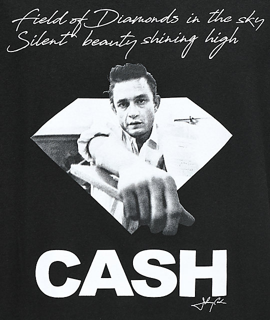 Diamond Supply Co. X Johnny Cash Diamonds In The Sky Black T-Shirt