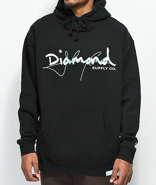 Diamond Supply Co. X Johnny Cash Rules Black Hoodie