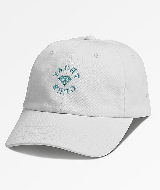 Diamond Supply Co. Yacht Club White Dad Hat  cc8287148bf