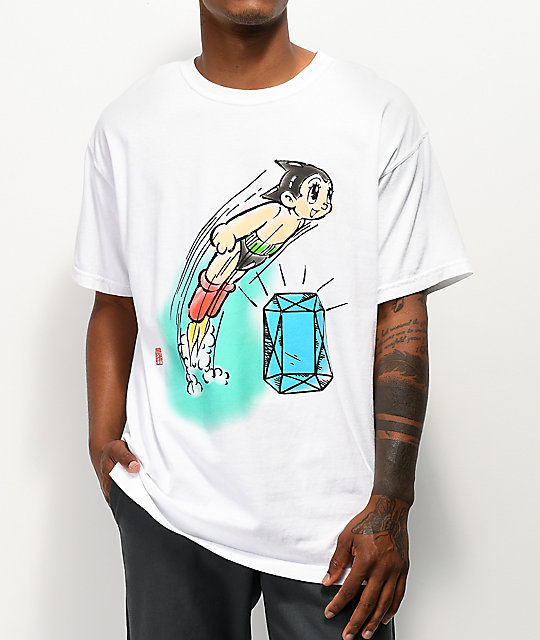 Diamond Supply Co. x Astro Boy Soaring camiseta blanca