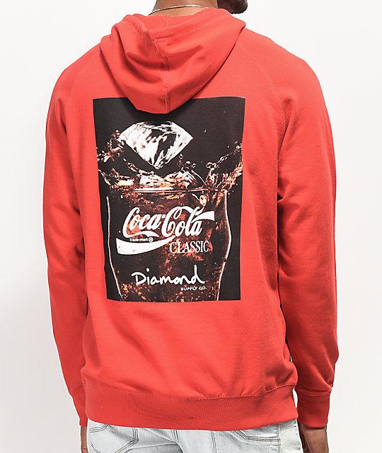 228c5768bd8 Diamond Supply Co. x Coca-Cola Photo Red Hoodie