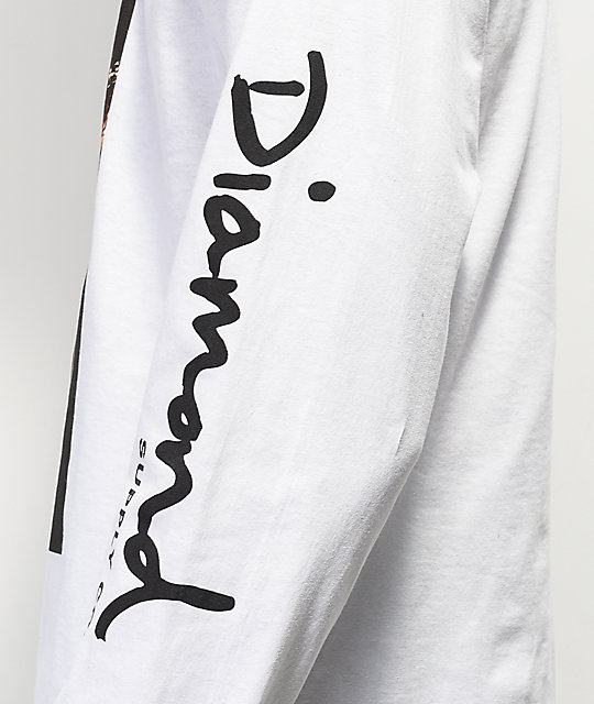 08df491136 Diamond Supply Co. x Coca-Cola Photo White Long Sleeve T-Shirt