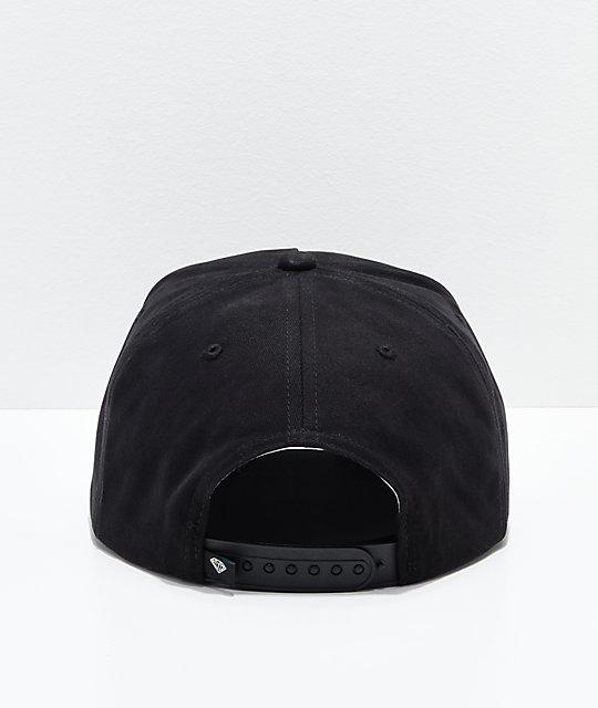 1801ad7ef77 ... Diamond Supply Co. x Deathwish Sign Black Snapback Hat