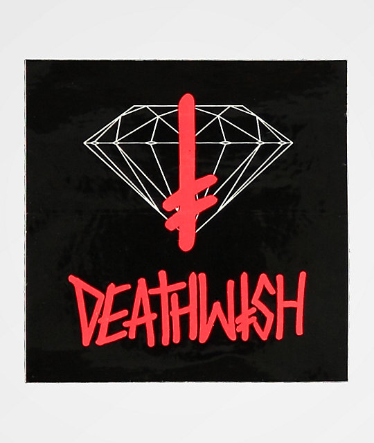 Diamond Supply Co. x Deathwish Sign Sticker