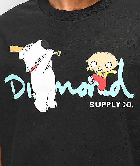 Diamond Supply Co. x Family Guy OG Script Black T-Shirt