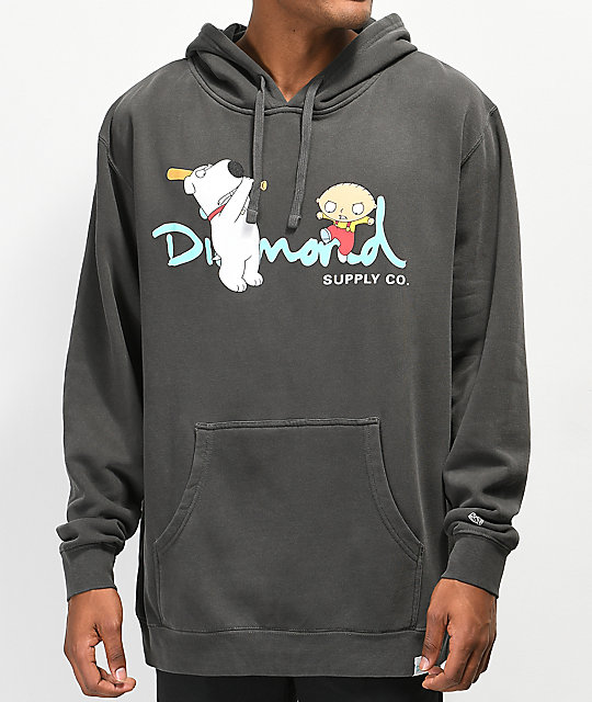 Diamond Supply Co. x Family Guy OG Script sudadera con capucha negra
