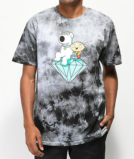 c9de85738d20 Diamond Supply Co. x Family Guy Stewie & Brian Crystal Washed T-Shirt |  Zumiez