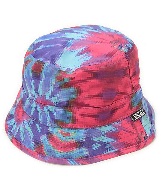 Diamond Supply Co. x Grizzly Grip Tape Tie Dye Bucket Hat  b443cbf161c