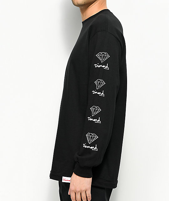 Diamond Supply Co.OG Sign Black Long Sleeve T-Shirt