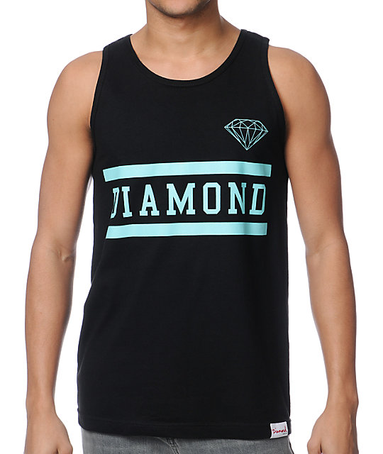 Diamond Supply Collegiate Black Tank Top