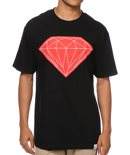 Diamond Suppy Co Big Brilliant Black & Red T-Shirt