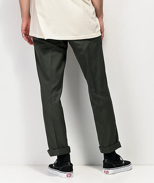Dickies '67 Slim Fit pantalones verdes de trabajo   Zumiez