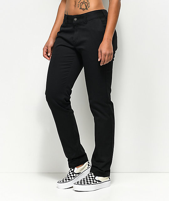 Dickies 67 Slim Straight Black Work Pants