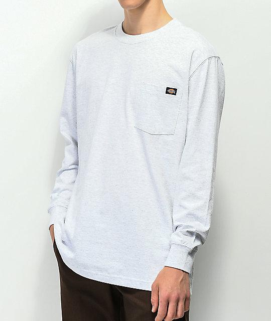 64e3aca0 Dickies Ash Grey Heavyweight Long Sleeve Pocket T-Shirt   Zumiez