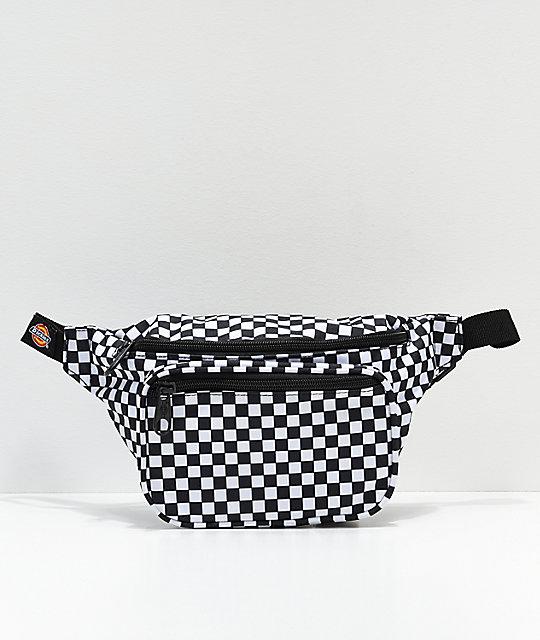 b3d26907231 Dickies Black Checkerboard Fanny Pack