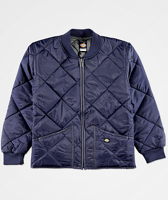 Dickies Boys Quilted Blue Jacket