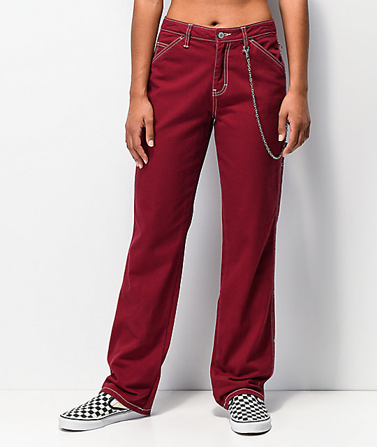 Dickies Chain Burgundy Carpenter Pants