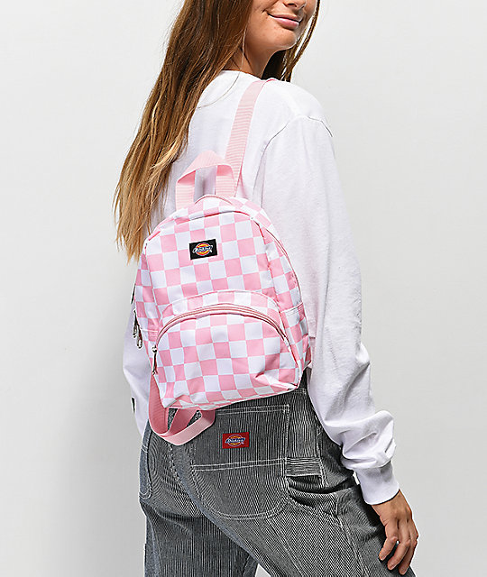 1c9d783ec3 ... Dickies Checkerboard Pink   White Mini Backpack ...