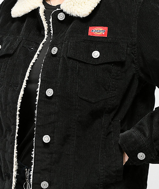 Dickies Corduroy Sherpa Black Jacket