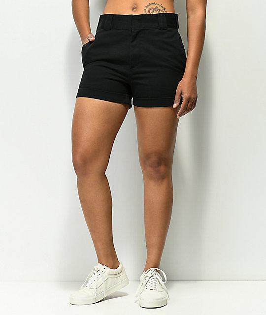 wide selection of colours and designs world-wide free shipping distinctive style Dickies Cuffed Black Work Shorts