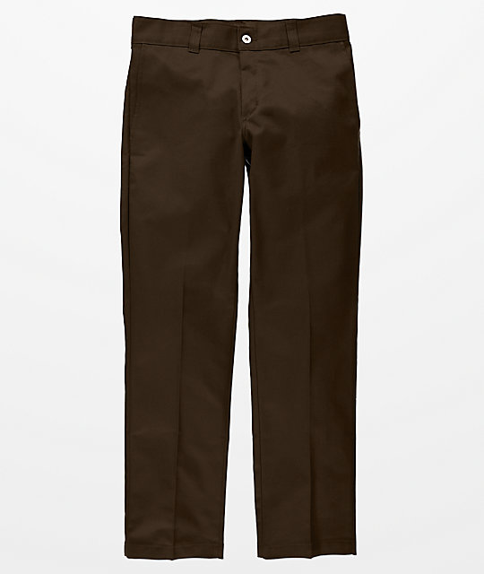 Dickies Flex Chocolate Slim Work Pants