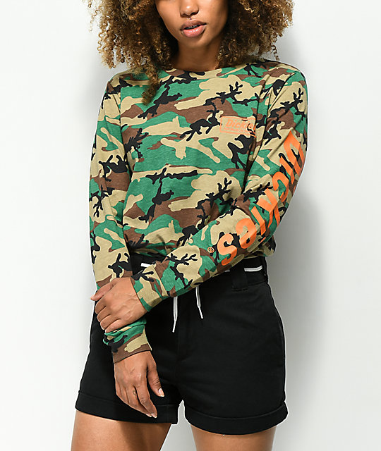 Dickies Genuine Logo Camo Long Sleeve T-Shirt