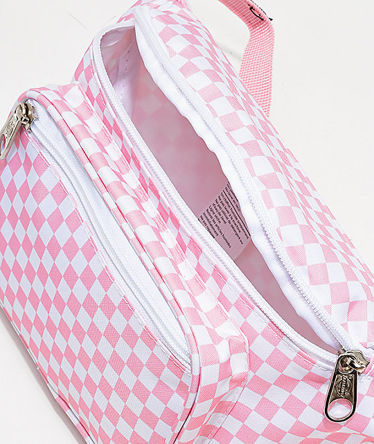 Dickies Pink Checkerboard Fanny Pack