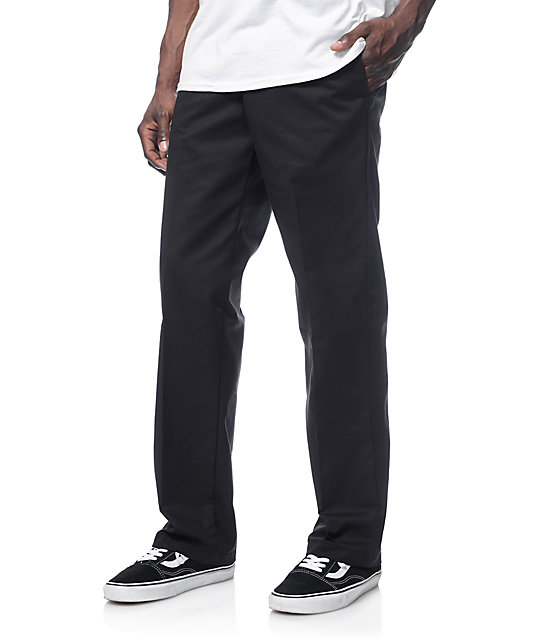 d059e28e5 ... Dickies Regular Fit Flat Front Black Workpants ...