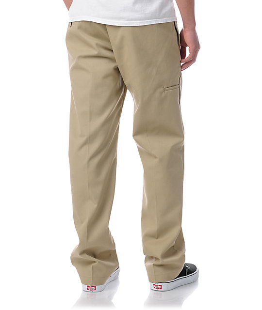 Dickies Regular Fit Khaki Twill Work Pants