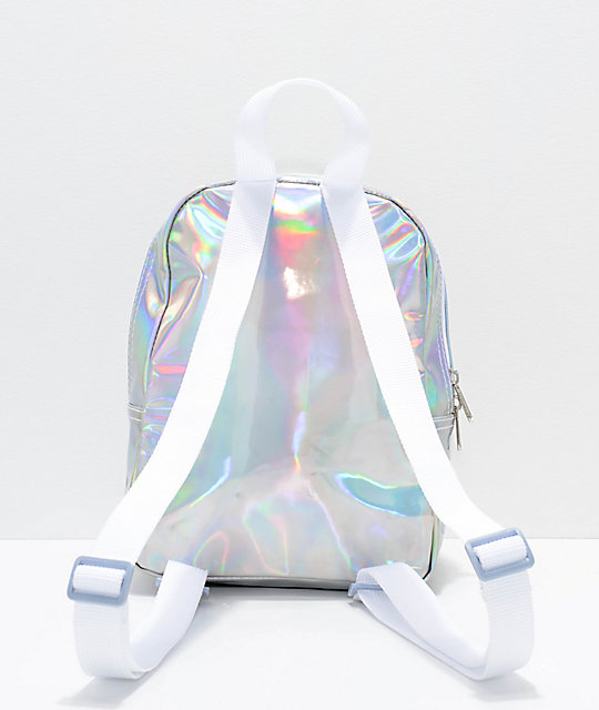 Dickies Silver Hologram Mini Backpack