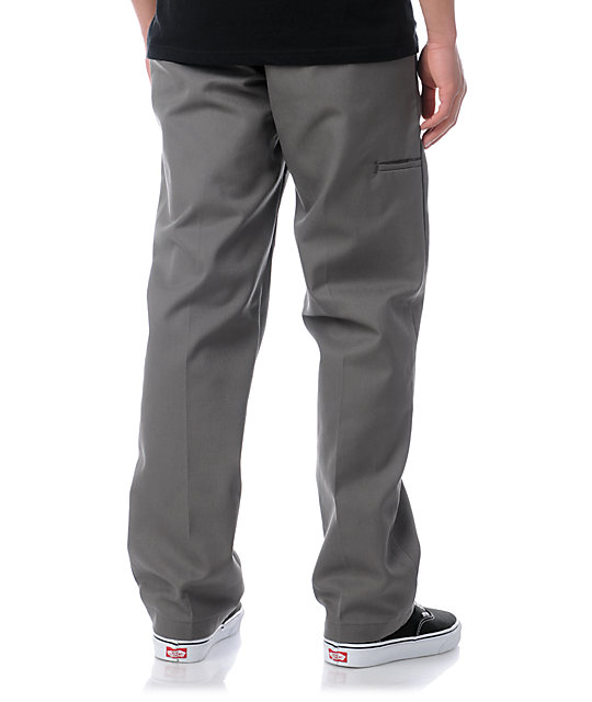 Dickies Slim Regular Fit Grey Twill Work Pants