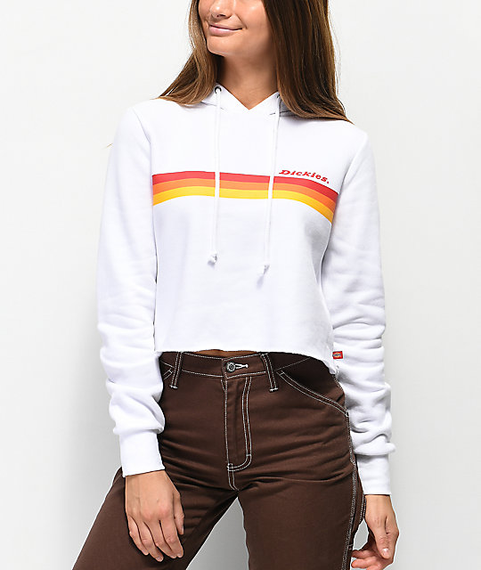 4ff620be Dickies Stripe White Crop Hoodie | Zumiez